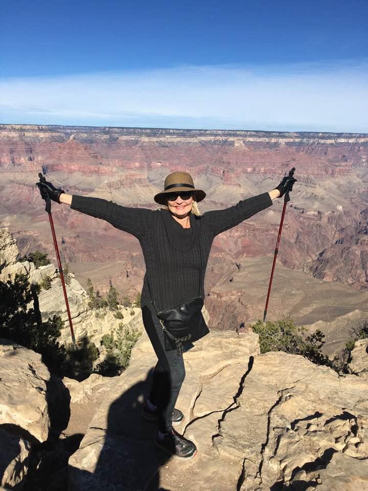 Katana Abbott CLimbs a mountain