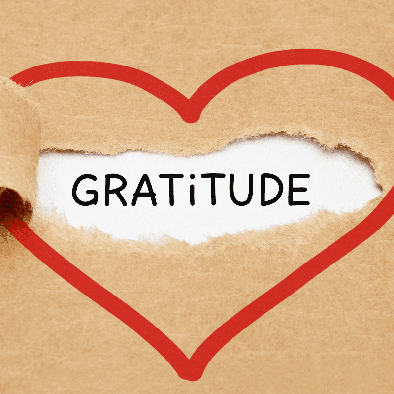 The financial freedom of gratitude heart